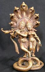 lotus sculpture Radha Krishna